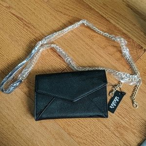 NWT Lulu's clutch wallet with chain